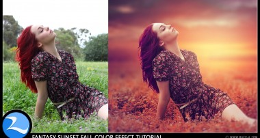Photoshop CC Tutorial – Fantasy Sunset Fall Color Effects