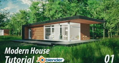 Create a Modern House : Blender Tutorial : 1 of 3