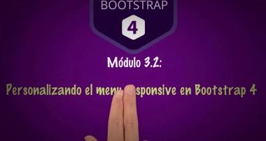 [Curso de Bootstrap 4] 3.2 Personalizando  el menu responsive en Bootstrap 4