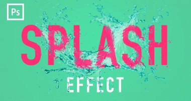 Photoshop Tutorials – Water Splash Effect (Displacement Mapping)