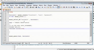 PHP Tutorial 27 – MySQL Creating A Table (PHP For Beginners)
