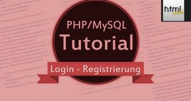 PHP Tutorial: Login mit Registrierung| MySQL | deutsch