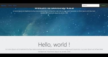 bootstrap 4: fullscreen background image Responsive + navbar fixed TOP