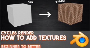 How to add textures in Cycles Render (2016) || Blender: Beginner to Better