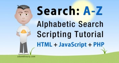 Alphabetic Search First Letter A-Z Script Tutorial PHP MySQL JavaScript HTML