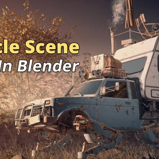 How to Create a Sci Fi Vehicle Scene in Blender 3D
