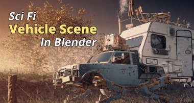 How to Create a Sci Fi Vehicle Scene in Blender 3D
