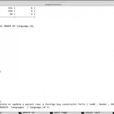 REFERENTIAL INTEGRITY, MYSQL TUTORIAL, PART 46