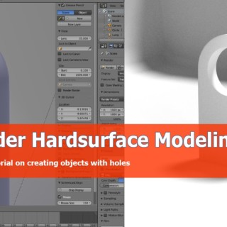 Blender modeling object with holes tutorial