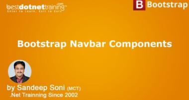 Bootstrap Tutorial – Create a Responsive Navigation Menu – Navbar Components