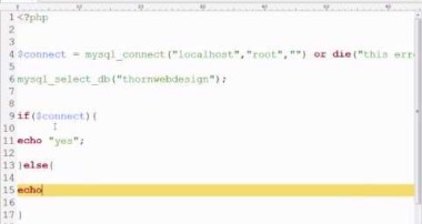 MySQL Tutorial 1 – Connecting to a Database