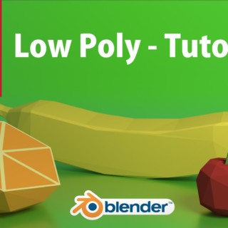 Low poly tutorial Blender 3D cycles Render  (Português)