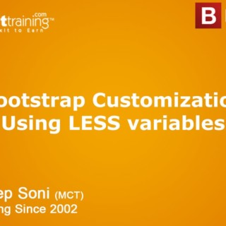 Bootstrap Tutorial – Bootstrap Customization Using LESS variables
