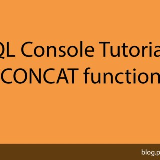 MYSQL Console Tutorial #13 Using the CONCAT function in MYSQL