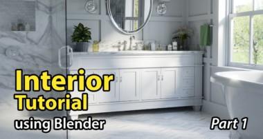 Blender Tutorial: Architectural Interior – Part 1 of 2