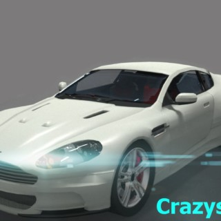 Blender 3D car speed model (Aston Martin DBS)