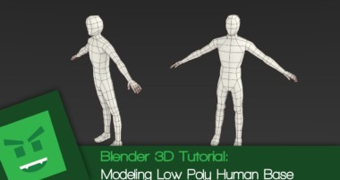 Blender 3D Tutorial : Modeling Low Poly Human Base