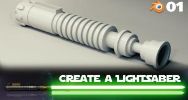Blender Beginner Tutorial: Create a Lightsaber – 1 of 2