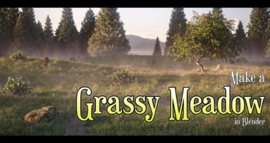 Make a Grassy Meadow in Blender