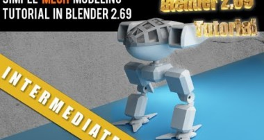 Simple Mech Modeling Tutorial in Blender 2.69