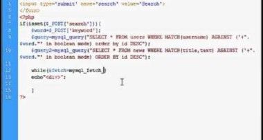 Site / MySQL search tutorial – php