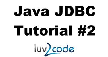 Java JDBC Tutorial – Part 2: Insert Data into a MySQL Database