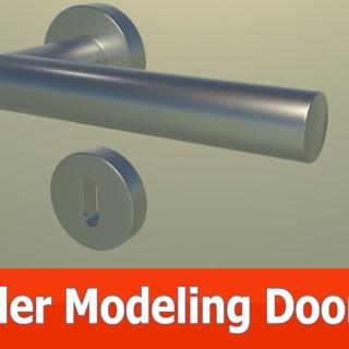 Blender modeling door tutorial : Keyhole plate (Part 2)