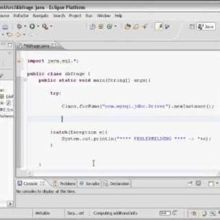 MySQL Datenbank Java  Eclipse JDBC Tutorial