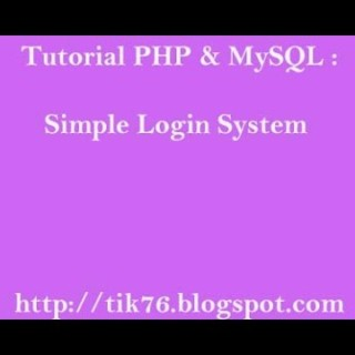 Tutorial Simple Login System with PHP and MySQL
