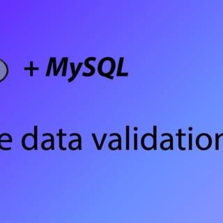 PHP & MySQL Tutorial 36 – More data validation