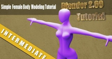 Simple Base Female Human Modeling Tutorial in Blender 2.69