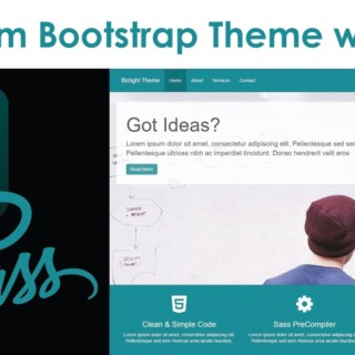 Custom Bootstrap Theme With Sass