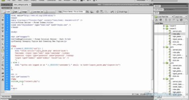 PHP Series – Building A PHP MySQL Forum Tutorial Series Part 3.1 – Creating Topics