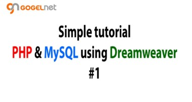 Tutorial PHP and MySQL using Dreamweaver #1