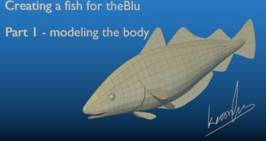 Creating a fish for theBlu using Blender – part 1: modeling the body