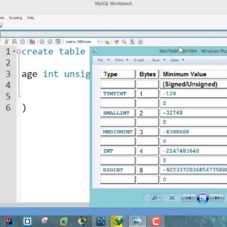 Unsigned in SQL – MySQL tutorial