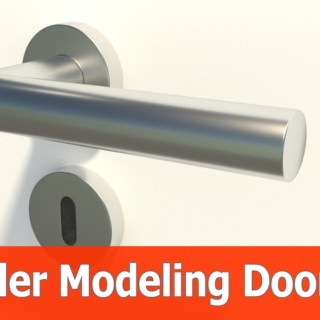 Blender Door Modeling tutorial : Keyhole (Part 3)