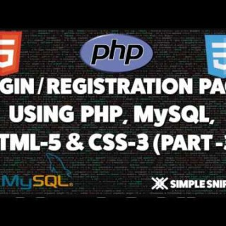 Login and Registration page in PHP and MySQL – Part 3