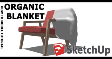 How to model Organic blanket in SketchUp tutorial! Useing Blender!