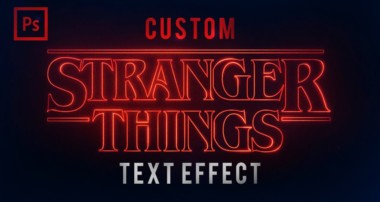 Photoshop Tutorials – Stranger Things Text Effect