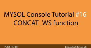 MYSQL Console Tutorial #16 Using the CONCAT_WS function in MYSQL