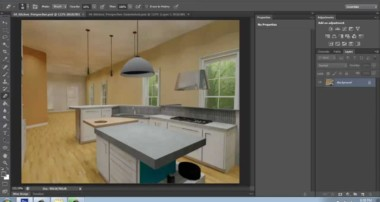 Adobe Photoshop CS6 Basics – Part 10a – Adding Details to a 3D Rendering – Brooke Godfrey
