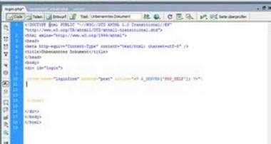 Einen Loginbereich mit Mysql/PHP erstellen(1/6) – Tutorial von Webseiten mit PHP(deutsch / german)