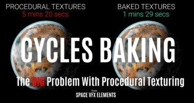 Cycles Baking Tutorial | The Big Problem With Procedural Texturing