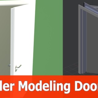 Blender Door Modeling tutorial : Doorframe and Wall (Part 4)