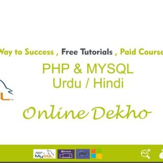 New PHP MySQL Tutorials in Urdu/Hindi part 1 Operators