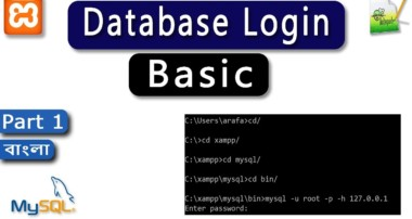 MySQL_(Part 1)_Database Login, MySQL Basic, Download Xampp & Notepad++ [Bangla Tutorial] 2017