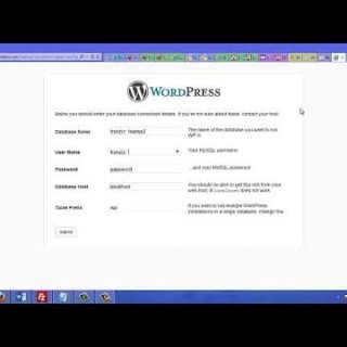 WordPress Installation Tips And Tricks Part 5 – Add MySql Details to WordPress