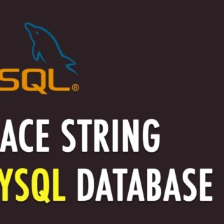 Replace string in MySQL database