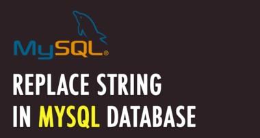 Replace string in MySQL database